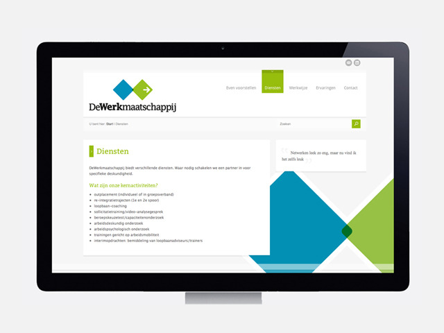 WorksWell, website DeWerkMaatschappij