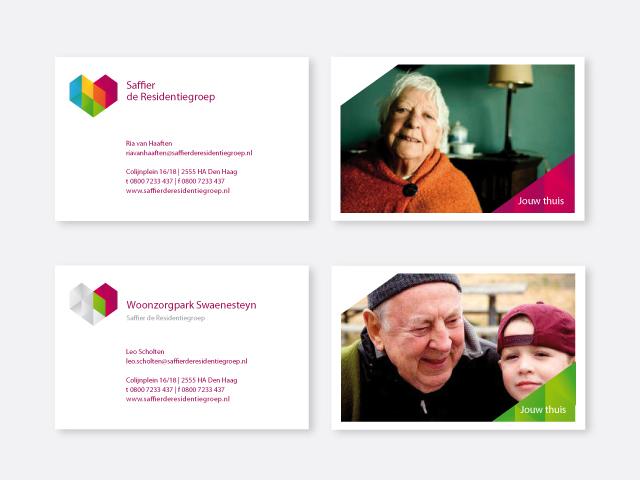 WorksWell, visitekaartjes Saffier de Residentiegroep