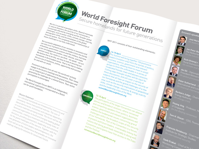 WorksWell, World Foresight Forum grafisch ontwerp